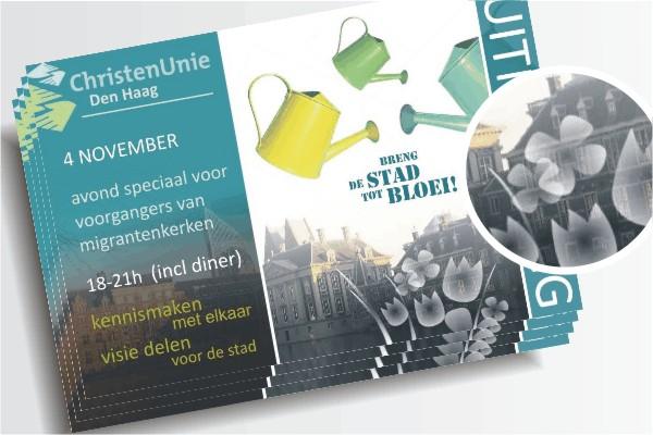 Uitnodiging Voorgangersoverleg migrantenkerken ChristenUnie Den Haag