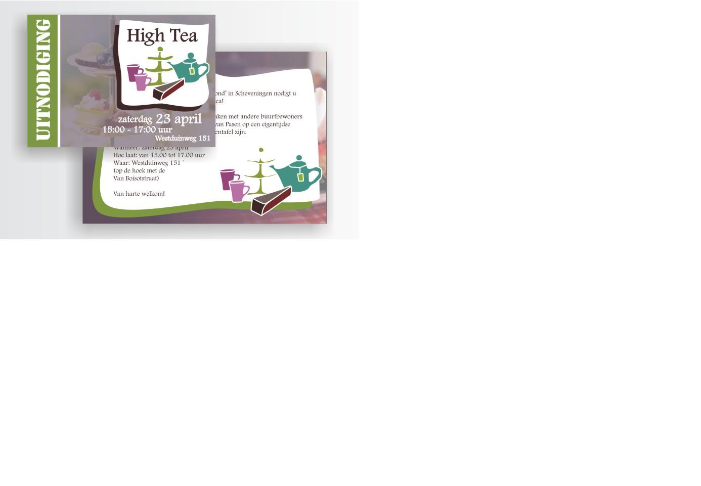 Uitnodiging High Tea voor de buren van EGM Scheveningen