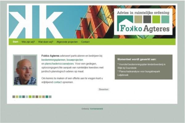 Website Fokko Agteres - advies in ruimtelijke ordening