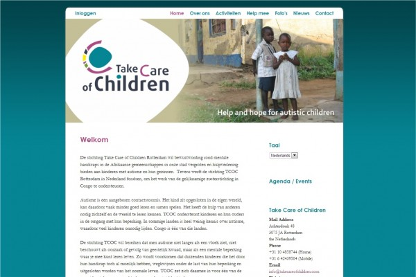 Website Take Care of Children